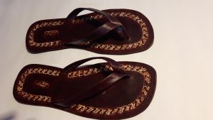 Craft leather sandals
