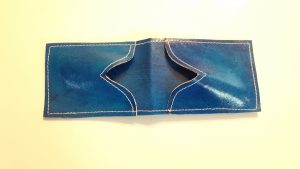 Blue  Credit Card Leather Case