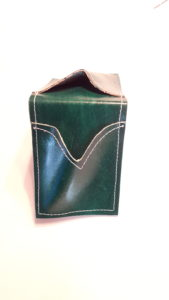 Green  Credit Card Leather Case