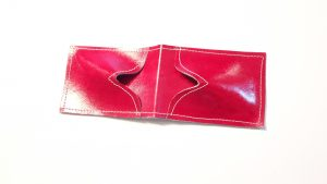 Red  Credit Card Leather Case