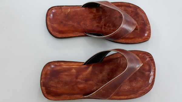 Custom Made Men Leather Sandals Size 12