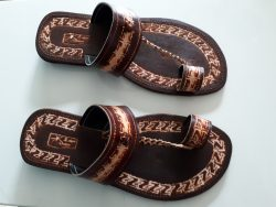 push toe leather sandals