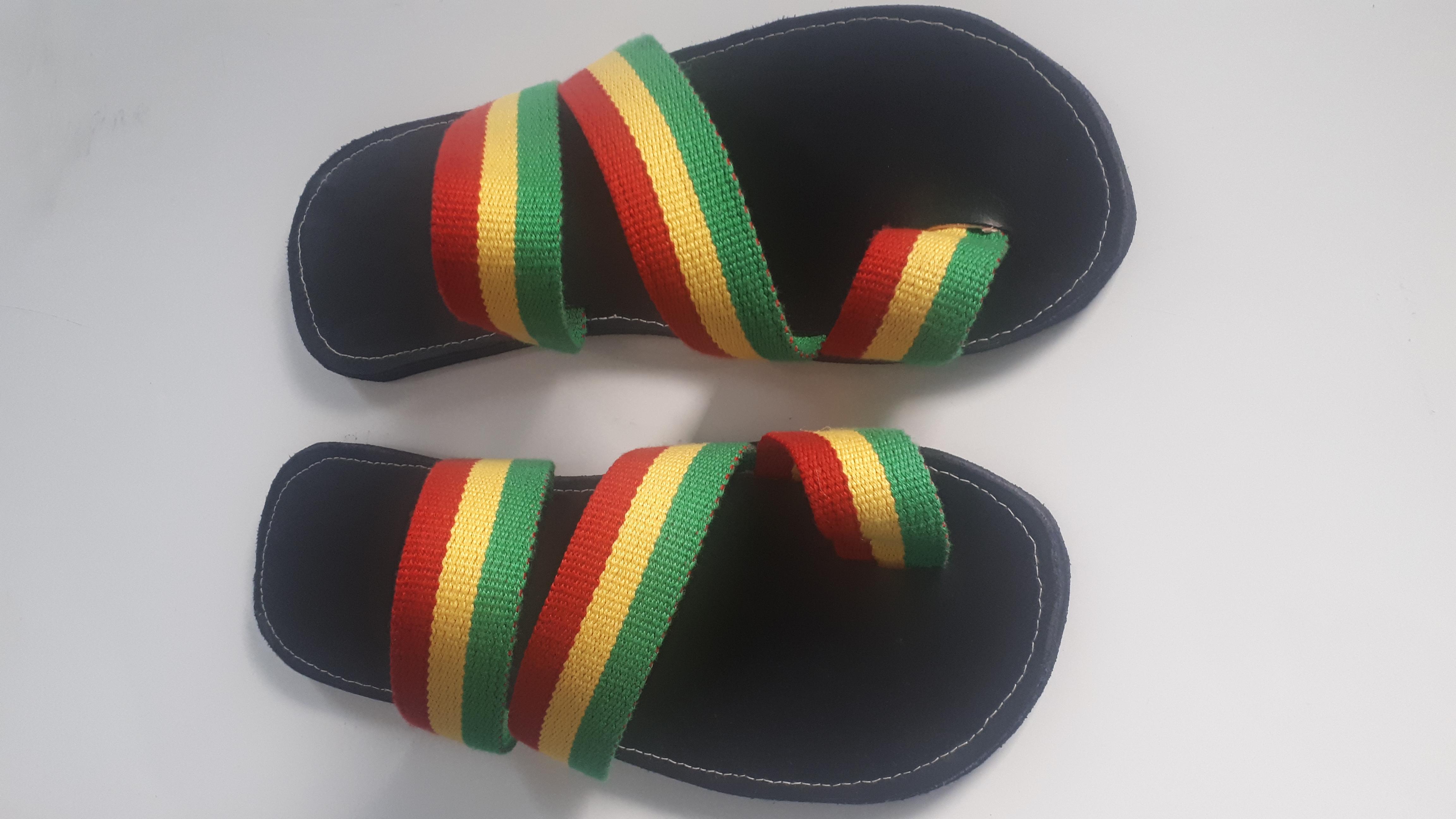 Men Three Strap Rasta Sandals