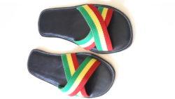 Black X Rasta Sandals