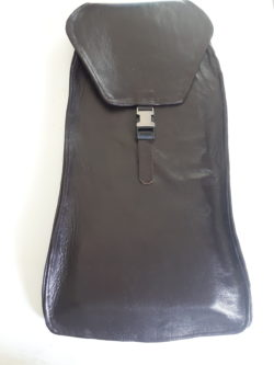 Leather case for cribbage board