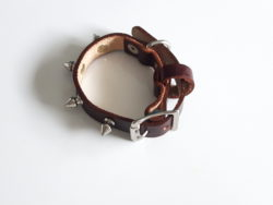 leather dog collar with spikes