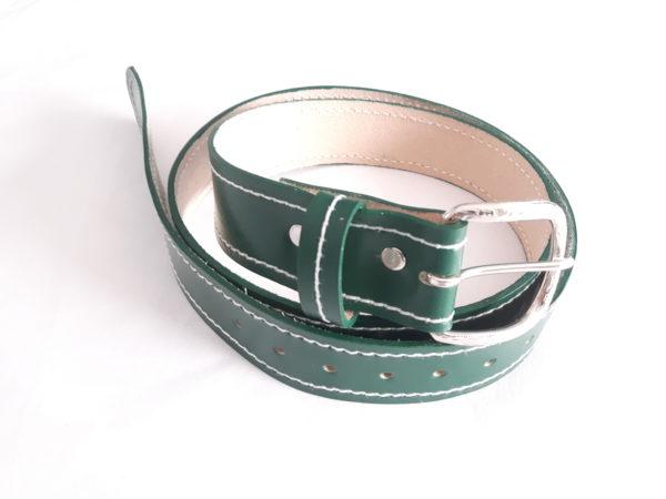 Green Leather Belt