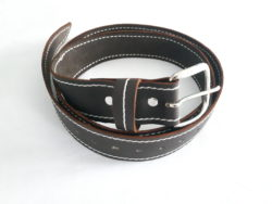 Dark Brown Leather Belt